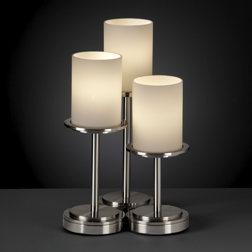 Justice Design Group Justice Design Group Fusion Collection Table Lamp FSN-8797-10-OPAL-NCKL