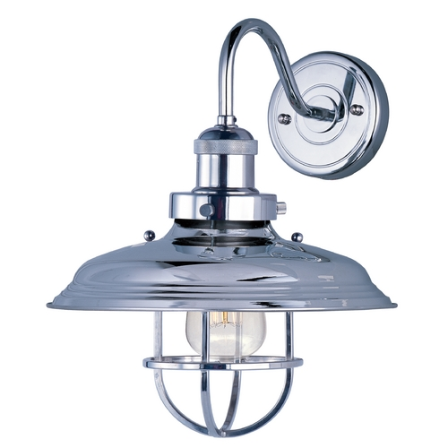 Maxim Lighting Maxim Lighting Mini Hi-Bay Polished Nickel Sconce 25091PN