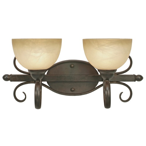 Golden Lighting Golden Lighting Riverton Peppercorn Bathroom Light 1567-BA2 PC
