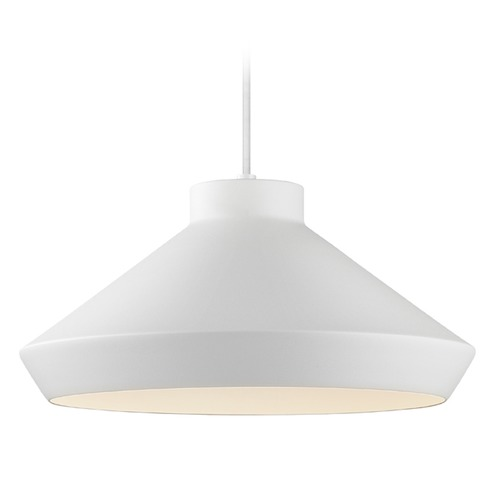 Sonneman Lighting Sonneman Koma Satin White LED Pendant Light with Coolie Shade 2752.03-G