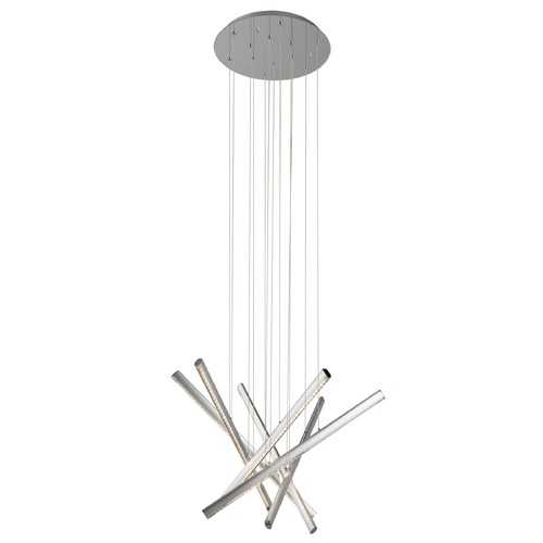 Elan Lighting Elan Lighting Railways Chrome + Satin Aluminum LED Multi-Light Pendant 83064