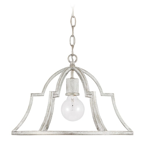 Capital Lighting Capital Lighting Demi 1-Light Winter White Pendant Light 338511WW