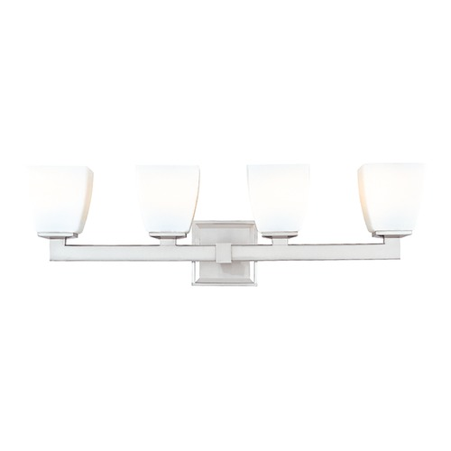 Hudson Valley Lighting Modern Bathroom Light with White Glass in Polished Chrome Finish 6204-PC