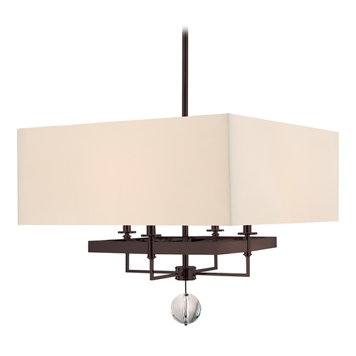 Hudson Valley Lighting Modern Pendant Light with White Shades in Old Bronze Finish 5646-OB