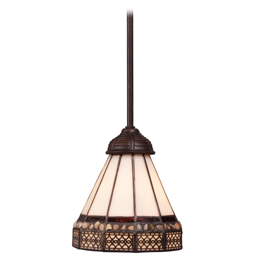 Elk Lighting Mini-Pendant Light with Art Glass 70076-1