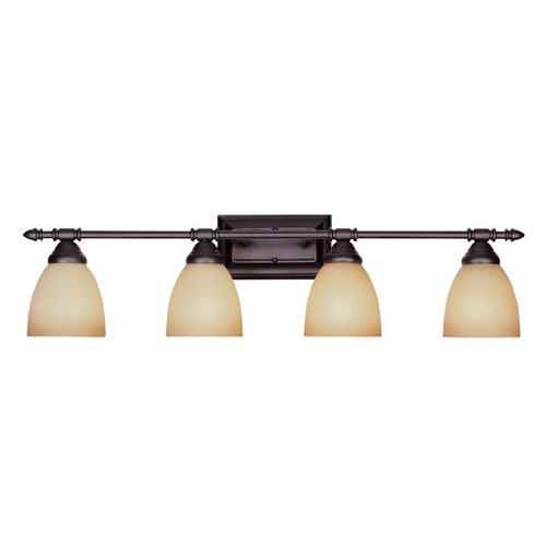 Designers Fountain Lighting Bathroom Light with Amber Glass in Oil Rubbed Bronze Finish 94004-ORB