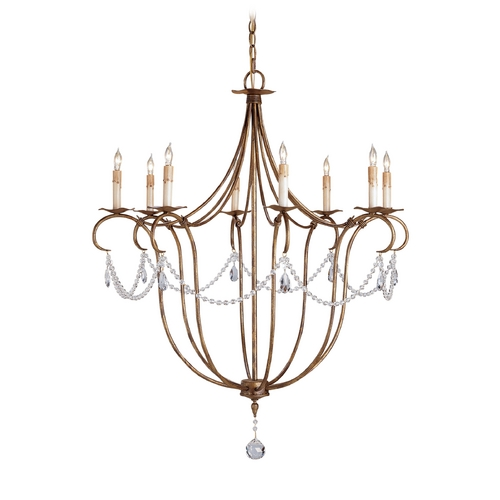 Currey and Company Lighting Chandelier in Rhine Gold Finish 9881