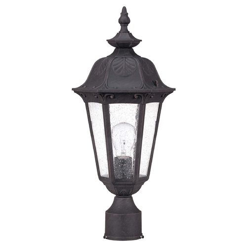 Nuvo Lighting Post Light with Clear Glass in Satin Iron Ore Finish 60/2039