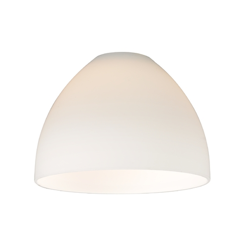 Design Classics Lighting Satin White Glass Shade - 1-5/8-Inch Fitter Opening GL1033-WH