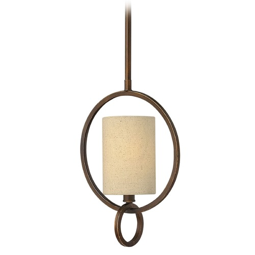 Frederick Ramond Frederick Ramond Pandora Brushed Cinnamon Mini-Pendant Light with Cylindrical Shade FR42407BRC