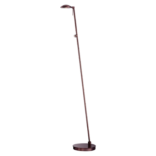 George Kovacs Lighting Modern LED Floor Lamp in Chocolate Chrome Finish P4334-631