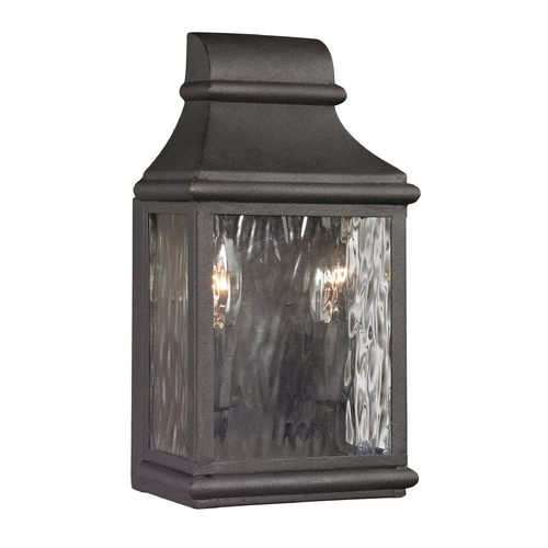 Elk Lighting Outdoor Wall Light with Clear Glass in Charcoal Finish 47070/2