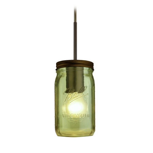 Besa Lighting Besa Lighting Milo Bronze Mini-Pendant Light with Cylindrical Shade 1JT-MILO4GR-BR