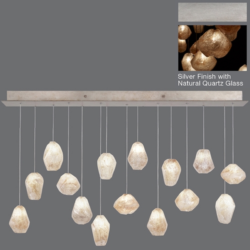 Fine Art Lamps Fine Art Lamps Natural Inspirations Silver Leaf Multi-Light Pendant 853740-14ST