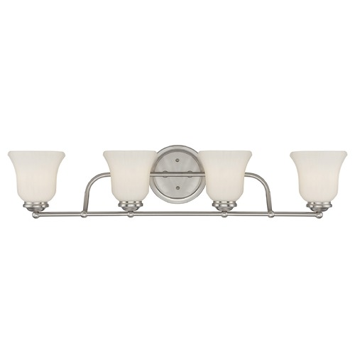 Savoy House Savoy House Lighting Mercer Satin Nickel Bathroom Light 8-470-4-SN