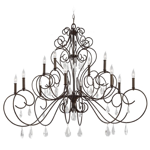 Feiss Lighting Feiss Lighting Angelette Bonnieaux Bronze Chandelier F3043/12BNB