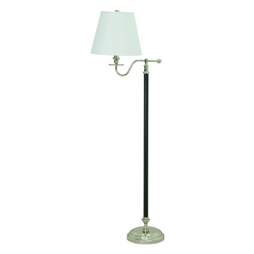 House of Troy Lighting House Of Troy Bennington Black / Polished Nickel Floor Lamp with Empire Shade B502-BPN