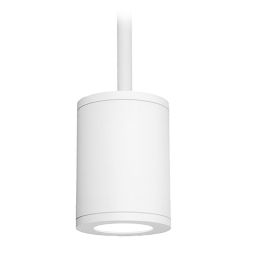 WAC Lighting 5-Inch White LED Tube Architectural Pendant 3000K 2045LM DS-PD05-F30-WT