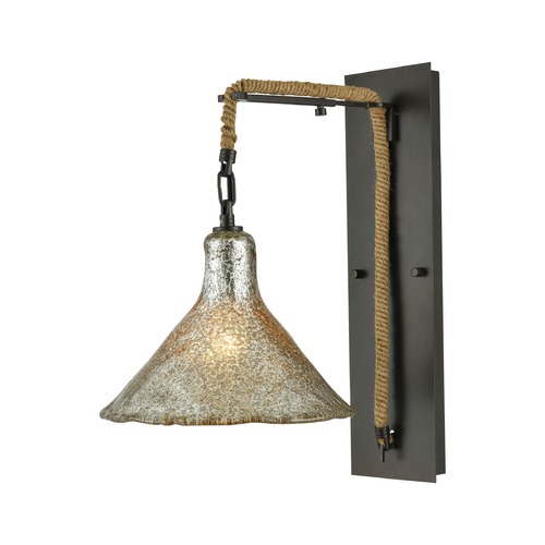 Elk Lighting Elk Lighting Hand Formed Glass Oil Rubbed Bronze Sconce 10436/1SCN
