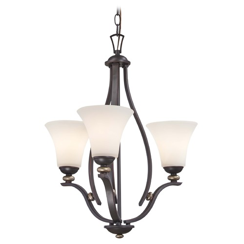 Minka Lavery Minka Shadowglen Lathan Bronze with Gold Chandelier 3283-589