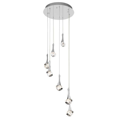 Elan Lighting Elan Lighting Rockne Chrome LED Multi-Light Pendant 83774