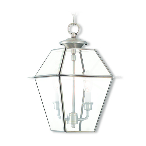 Livex Lighting Livex Lighting Westover Brushed Nickel Outdoor Hanging Light 2285-91