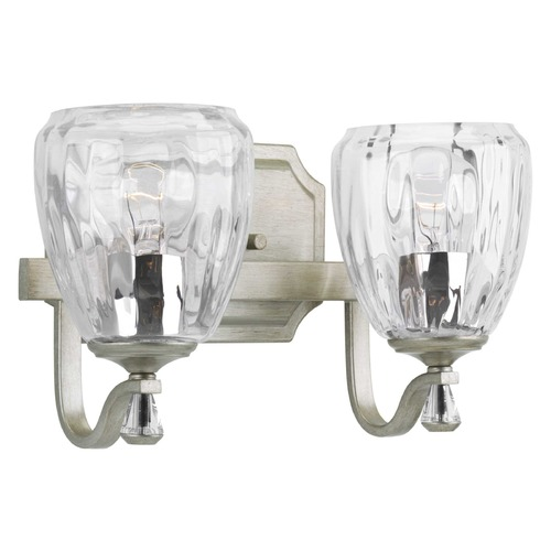 Progress Lighting Progress Lighting Anjoux Silver Ridge 2-Light Bathroom Light P300117-134
