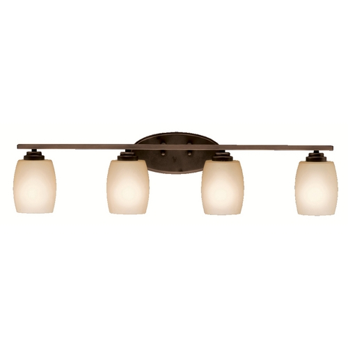 Kichler Lighting Kichler Bathroom Light with Beige / Cream Glass in Olde Bronze Finish 5099OZ