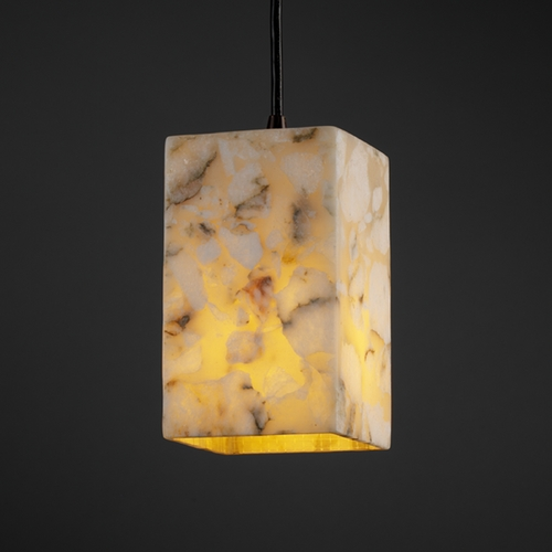 Justice Design Group Justice Design Group Alabaster Rocks! Collection Mini-Pendant Light ALR-8816-15-DBRZ