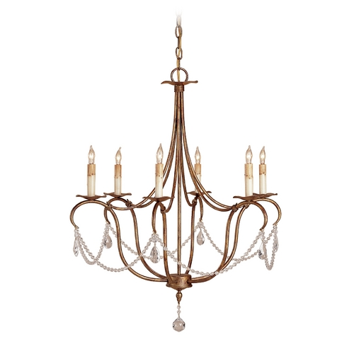 Currey and Company Lighting Chandelier in Rhine Gold Finish 9880