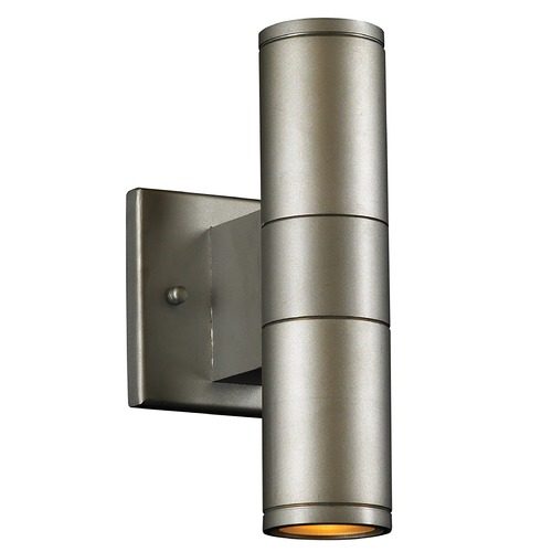 PLC Lighting Modern Outdoor Wall Light in Silver Finish 8024 AL