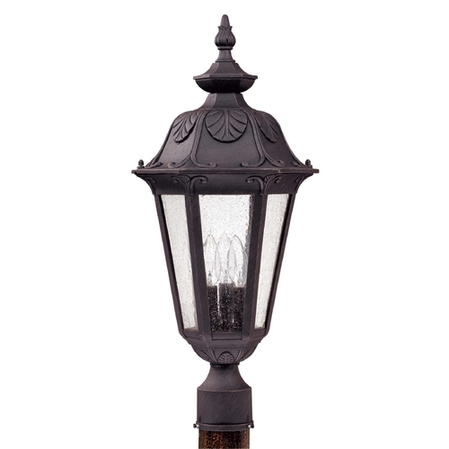 Nuvo Lighting Post Light with Clear Glass in Satin Iron Ore Finish 60/2040
