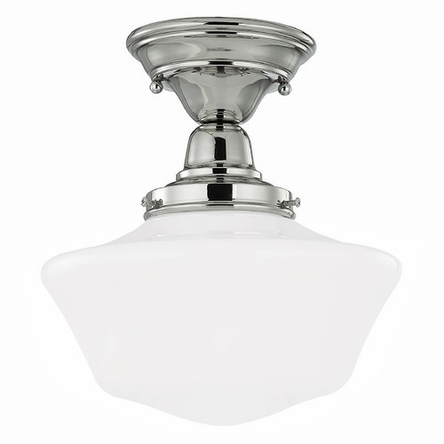 Design Classics Lighting 10-Inch Schoolhouse Semi-Flushmount Ceiling Light FBS-15 / GA10