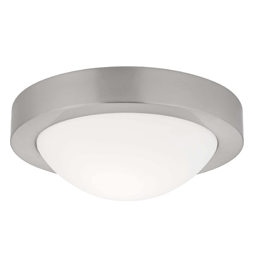 Design Classics Lighting Small Contemporary Satin Nickel Ceiling Light -9-1/8-Inches Wide  4009-09