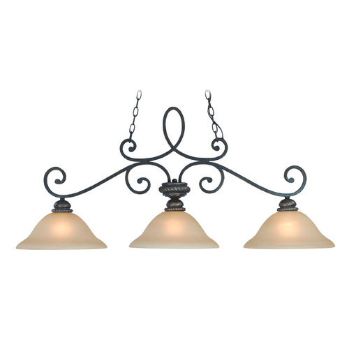 Craftmade Lighting Craftmade Highland Place Mocha Bronze Island Light with Bowl / Dome Shade 25233-MB