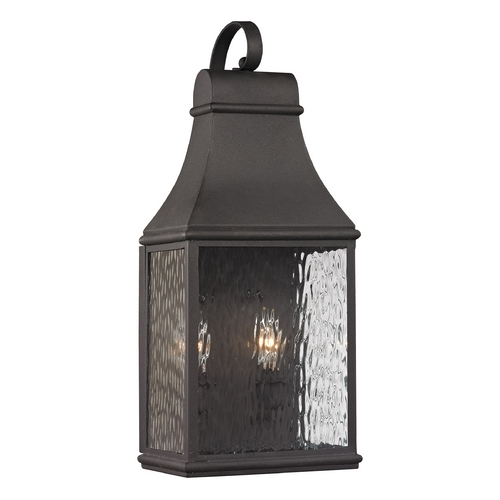 Elk Lighting Outdoor Wall Light with Clear Glass in Charcoal Finish 47071/2