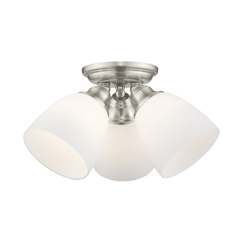 Livex Lighting Livex Lighting Somerville Brushed Nickel Semi-Flushmount Light 13664-91