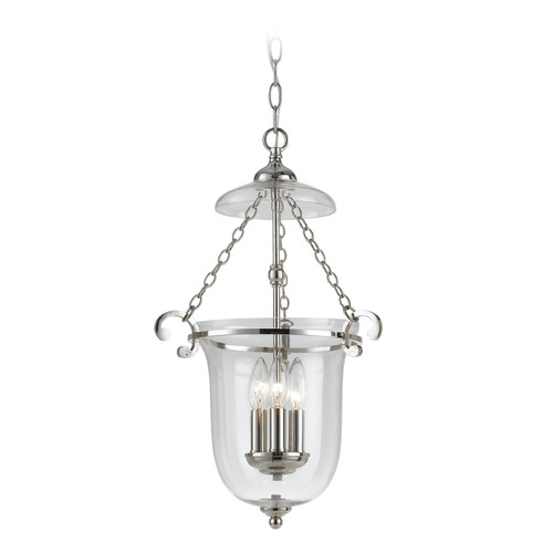 Crystorama Lighting Crystorama Lighting Pendant Polished Nickel Pendant Light with Bowl / Dome Shade 5762-PN