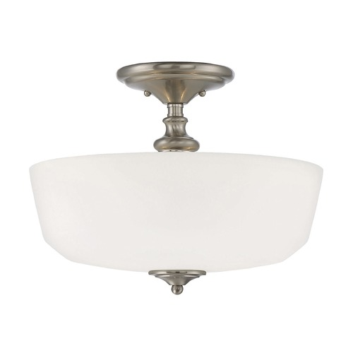 Savoy House Savoy House Lighting Melrose Satin Nickel Semi-Flushmount Light 6-6835-2-SN