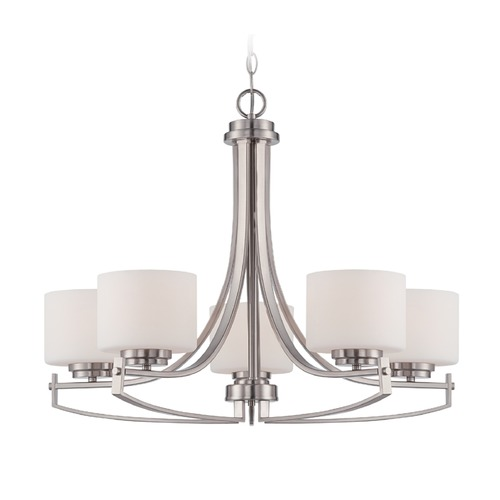 Designers Fountain Lighting Designers Fountain Axel Satin Platinum Chandelier 86285-SP