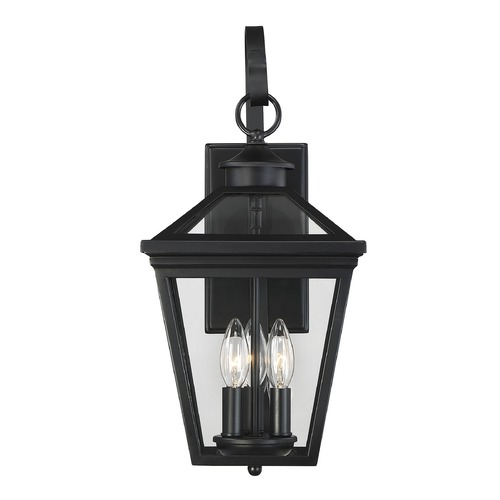 Savoy House Savoy House Lighting Ellijay Black Outdoor Wall Light 5-141-BK