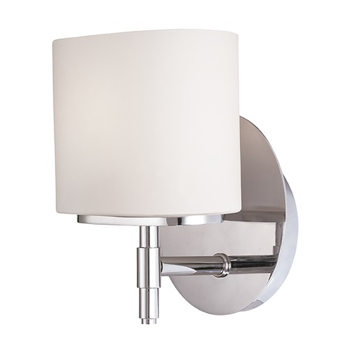 Hudson Valley Lighting Modern Sconce with White Glass in Polished Chrome Finish 8901-PC