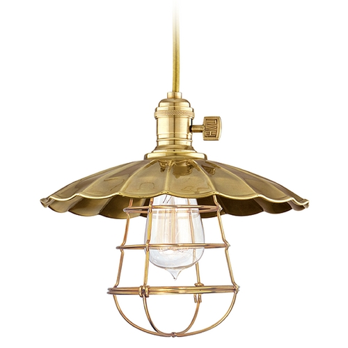 Hudson Valley Lighting Mini-Pendant Light 8002-AGB-MS2-WG