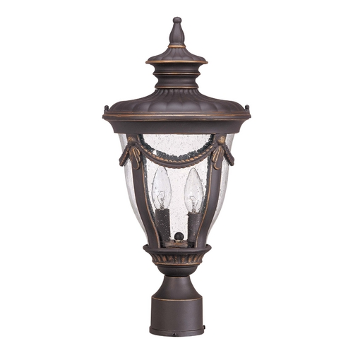 Nuvo Lighting Post Light with Clear Glass in Belgium Bronze Finish 60/2049