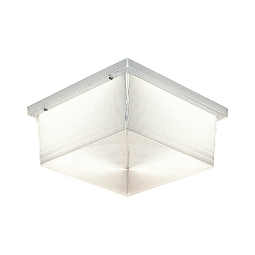 Progress Lighting Progress Close To Ceiling Light with Clear Glass in White Finish P5791-68