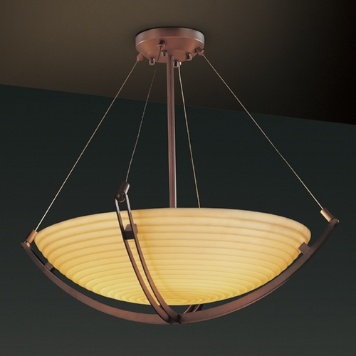 Justice Design Group Justice Design Group Porcelina Collection Pendant Light PNA-9729-35-SAWT-DBRZ