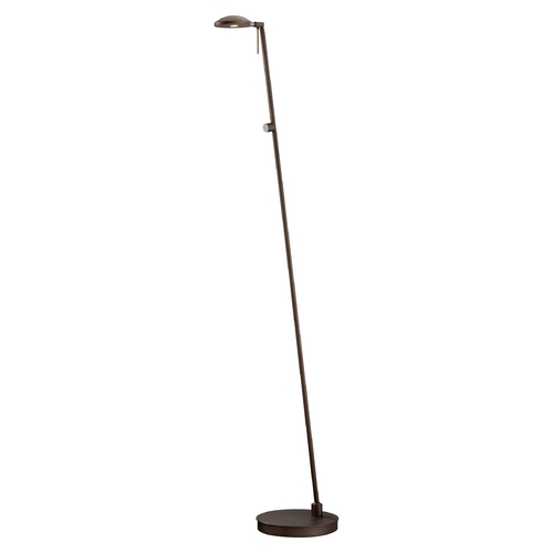George Kovacs Lighting Modern LED Floor Lamp in Copper Bronze Patina Finish P4334-647