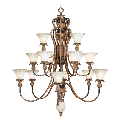 Livex Lighting Livex Lighting Savannah Venetian Patina Chandeliers with Center Bowl 8469-57