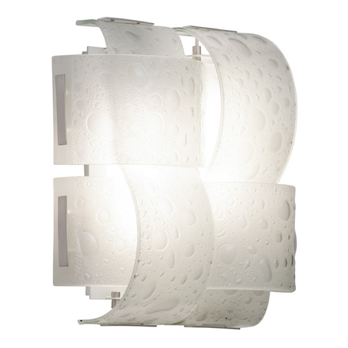Kalco Lighting Kalco Lighting Cirrus Satin Nickel Sconce 5090SN/CFL