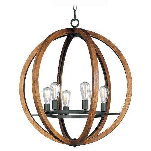 Maxim Lighting Maxim Lighting Bodega Bay Anthracite Chandelier 20918APAR/BUI